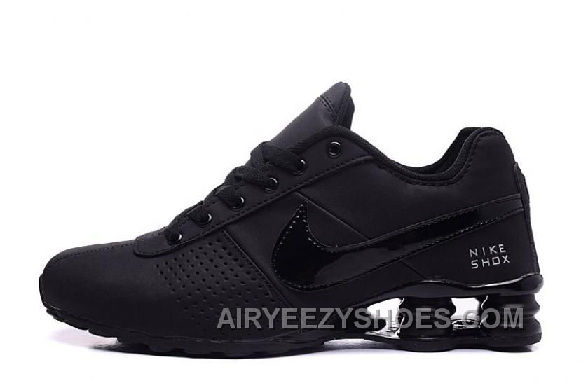 8f1f140d81e NIKE SHOX DELIVER 809 ALL BLACK WOMEN BIGGER SIZE