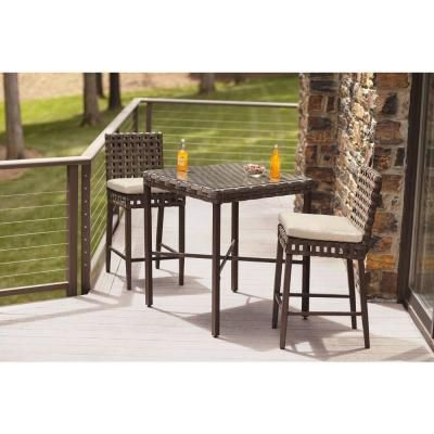 184 50 Hampton Bay Raynham 3 Piece Patio Bistro Set Dy12091 3pc At The Home Depot
