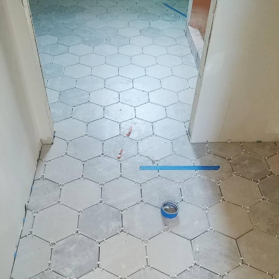 tile floor hex tile