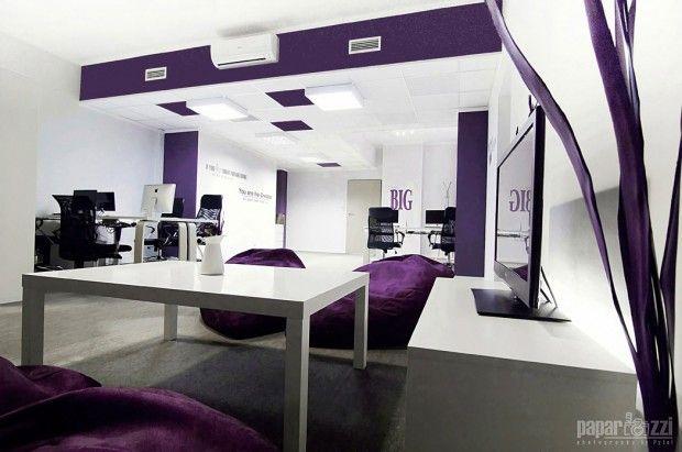 Clean  Minimal Office Design - Suchowski Media Office Office