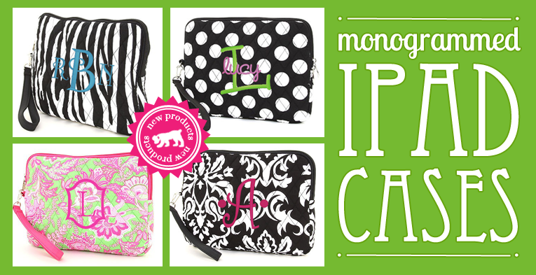 our monogrammed ipad case - great bridal party gift!