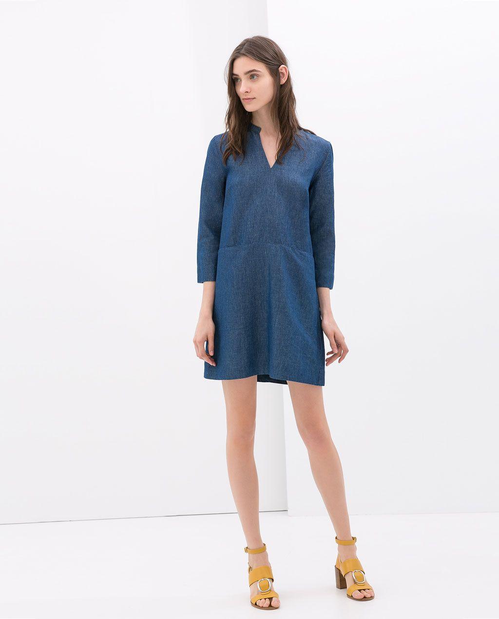 26bd002e7db877 DENIM SHIRT DRESS} from Zara | ZARA in 2019 | Denim shirt dress ...