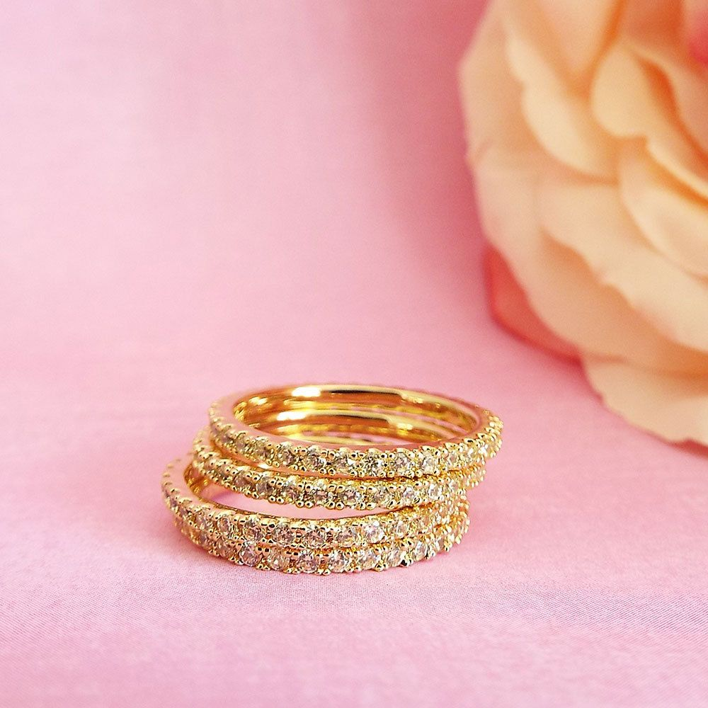 Yellow Sapphire Full Eternity Band Cubic Zirconia 1.5 mm Micro Pave ...