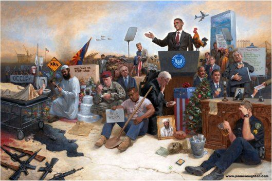 Crítica a Obama con arte