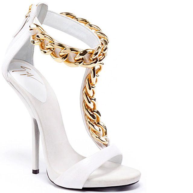giuseppe zanotti white heels sandals