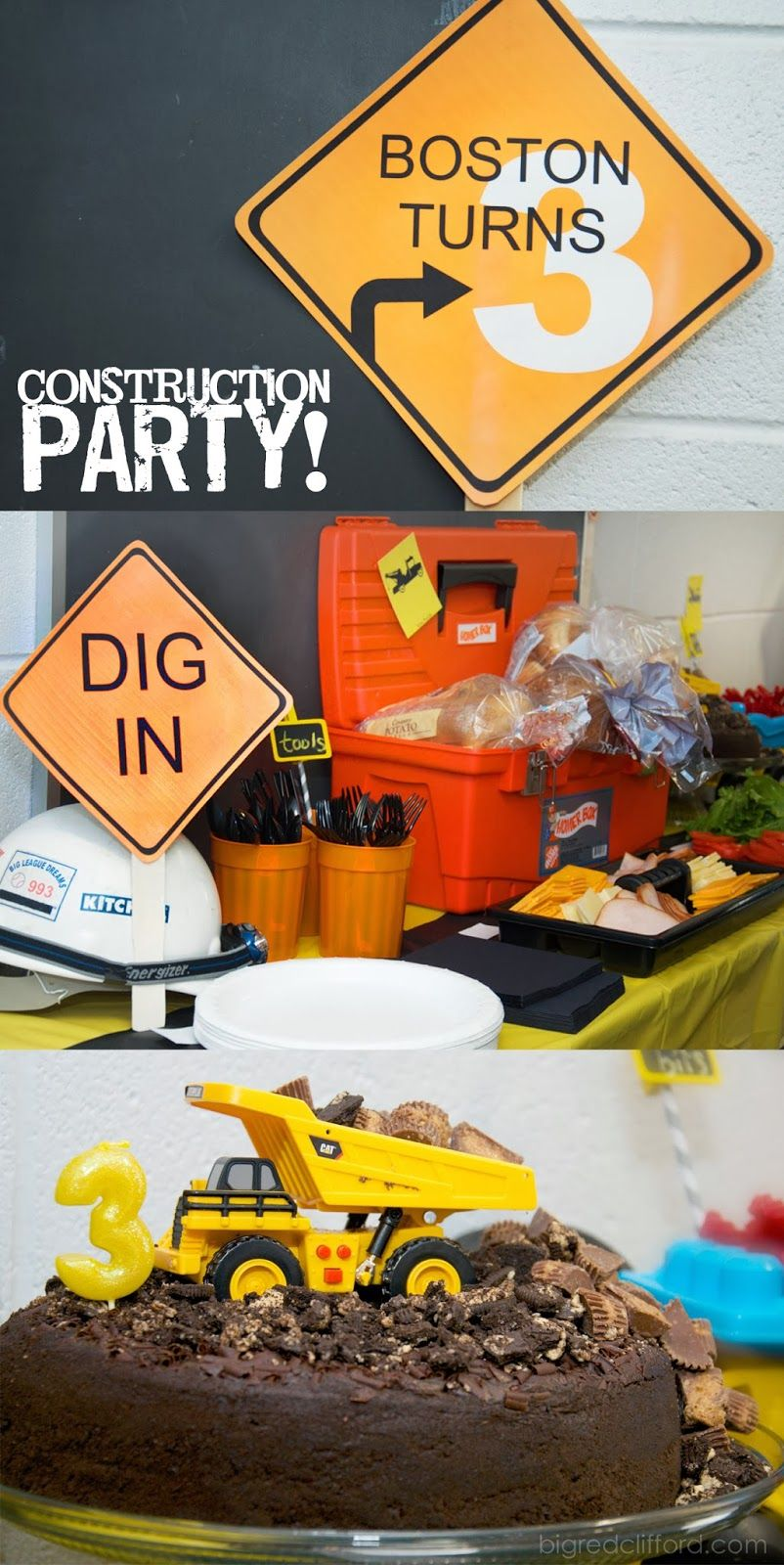 3 Year Old Construction Party Free Printables Bigredclifford Com Construction Birthday Parties Construction Party Food Construction Party