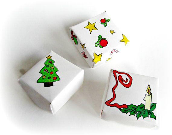 Set di tre scatole origami natalizie scatole regalo di Buttonstyle, €6.00