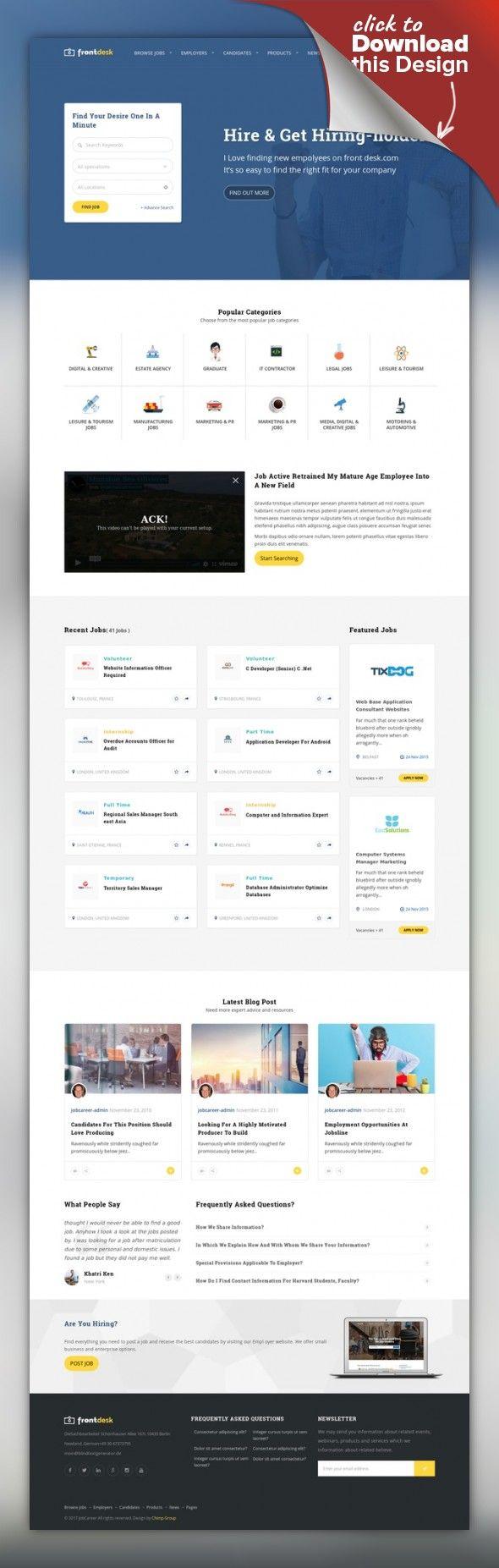 JobCareer | Job Board Responsive WordPress Theme career