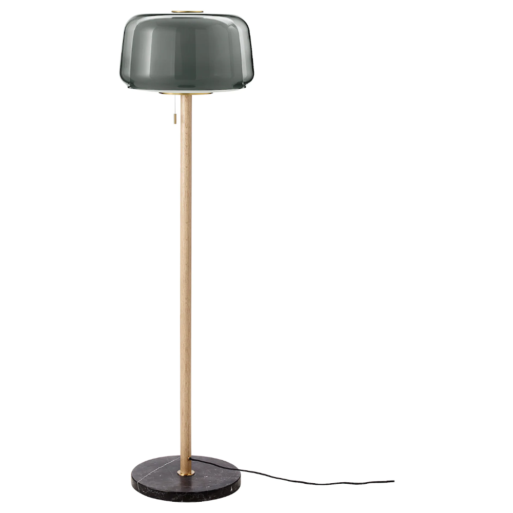 Evedal Floor Lamp With Led Bulb Marble Gray Gray Floor Lamp Floor Lamp Grey Lamp