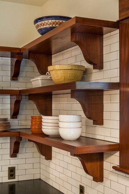 Estantes con soporte de madera cocina pinterest - Estantes de cocina ...