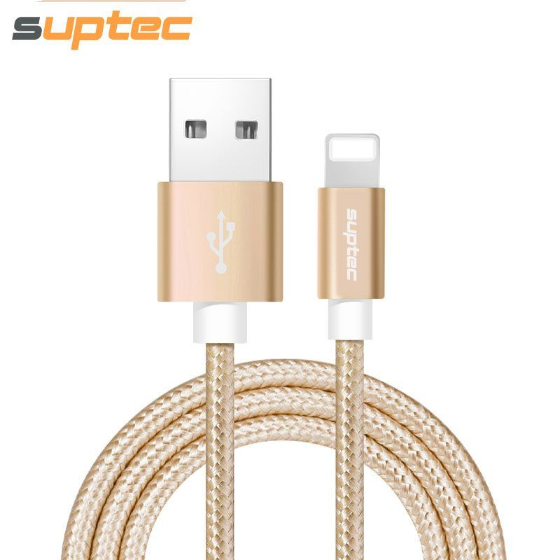 SUPTEC USB Cable for iPhone, Nylon Braided Charger Wire for iPhone X ...
