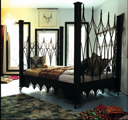gothic style bedroom | Mine Metal Art Beds Home Portfolio Distinctive Home  Ideas! Buy Baroque - Gothic Style Bedroom Mine Metal Art Beds Home Portfolio