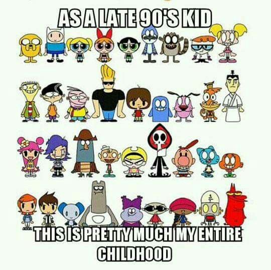 Childhood Cartoon Characters 90s : Cartoon network you re a s kid if pinterest
