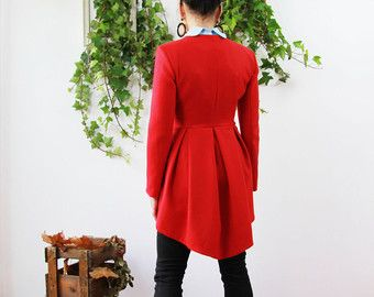 Women peplum gray jacket short tailored jacket by JolyDagmara ...