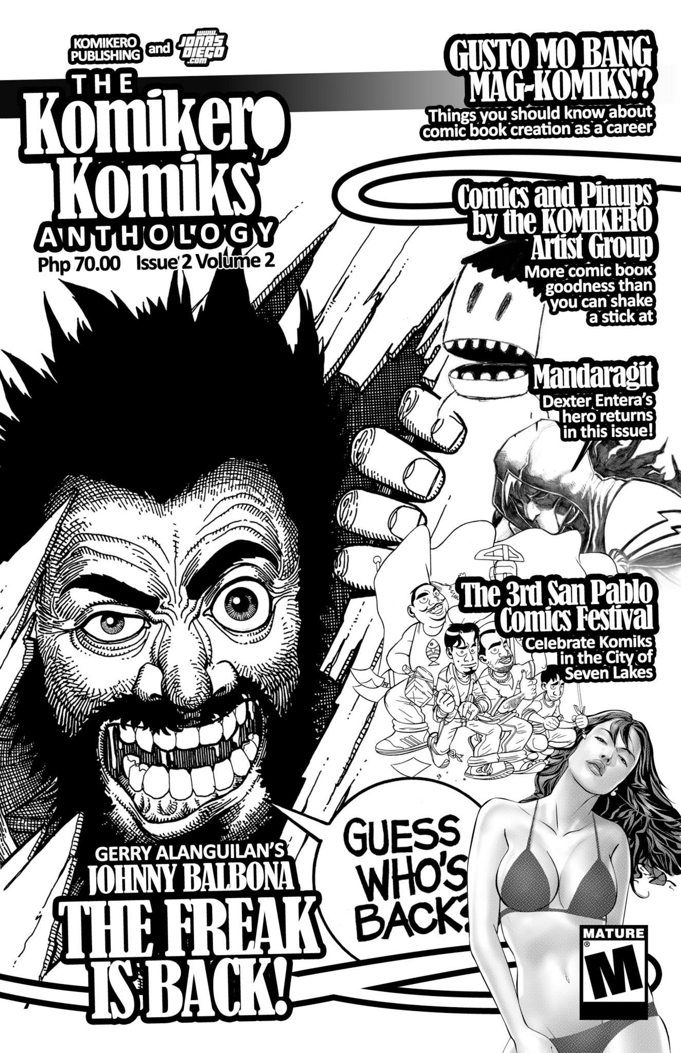 Komikero Komiks Issue 2 Volume Linework By The Artist Group Layout Me And Grayscale Neil Amiel Cervantes