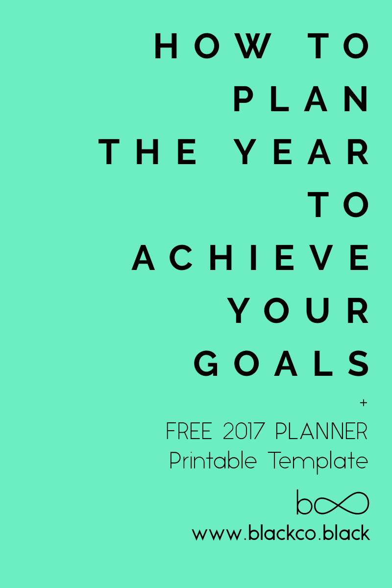 How To Plan The Year To Achieve Your Goals   Planner