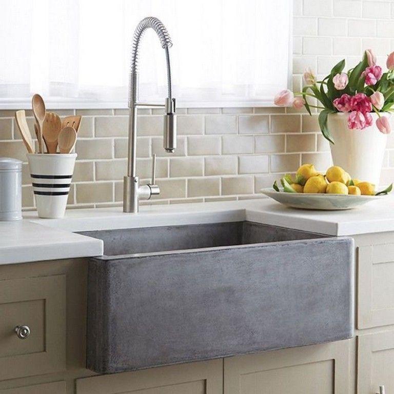 80+ marvelous Farmhouse Kitchen Sink Design Ideas ... on Farmhouse Kitchen Sink Ideas  id=46945