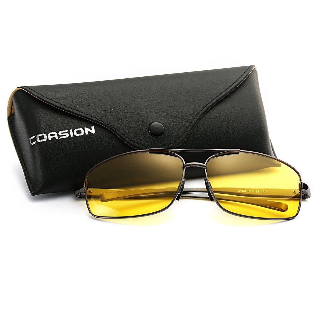 Coasion hd polarized night vision driving glasses large