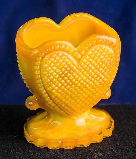 Degenhart glass Victorian beaded heart by JMvintagefinds on Etsy, $15.00