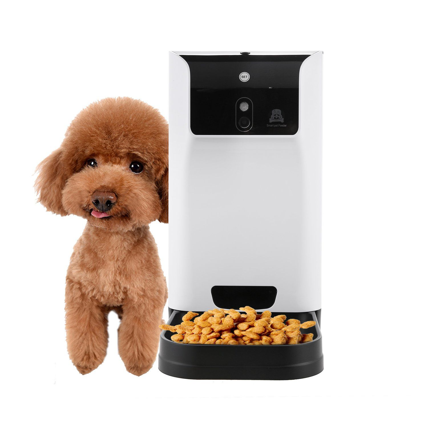 Flagup Smart Automatic Pet Feeder with Voice Recorder