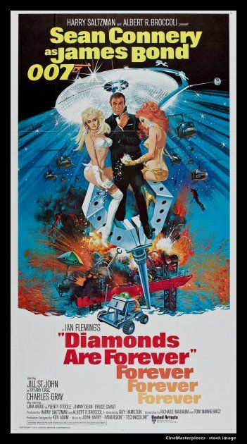 Diamonds Are Forever 1971 James Bond With Sean Connery Movie