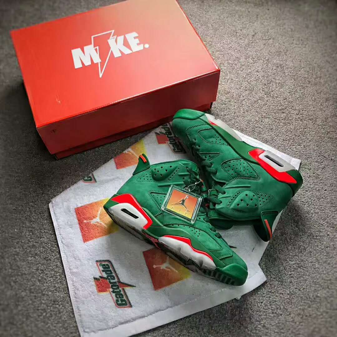 brand new 3cc90 4bd17 Air Jordan 6 Gatorade Green Be Like Mike AJ5986-335 from https