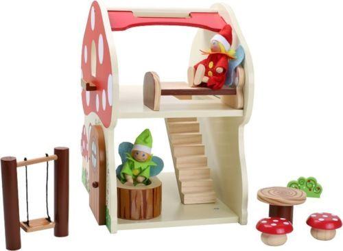 Kühlschrank Puppenhaus : Details zu puppenhaus fliegenpilz haus mit tlg zubehör holz