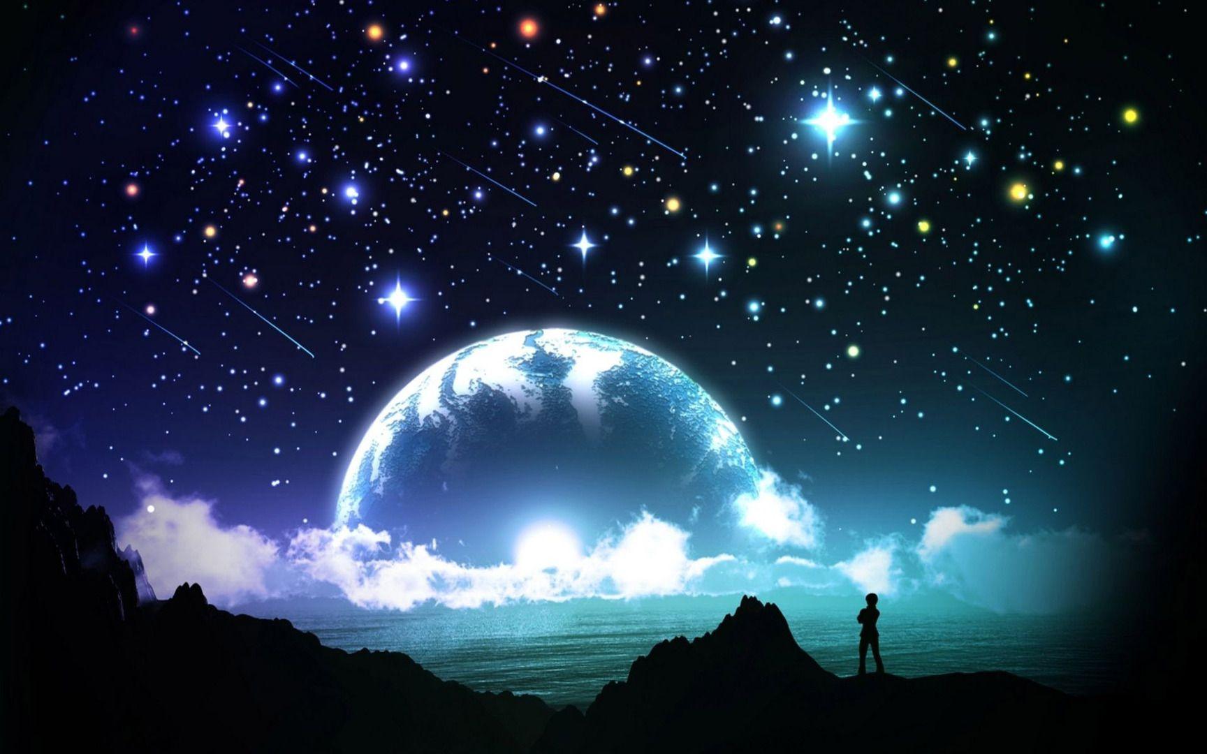 awesome bright night sky 19601 | fantasy | pinterest | night skies