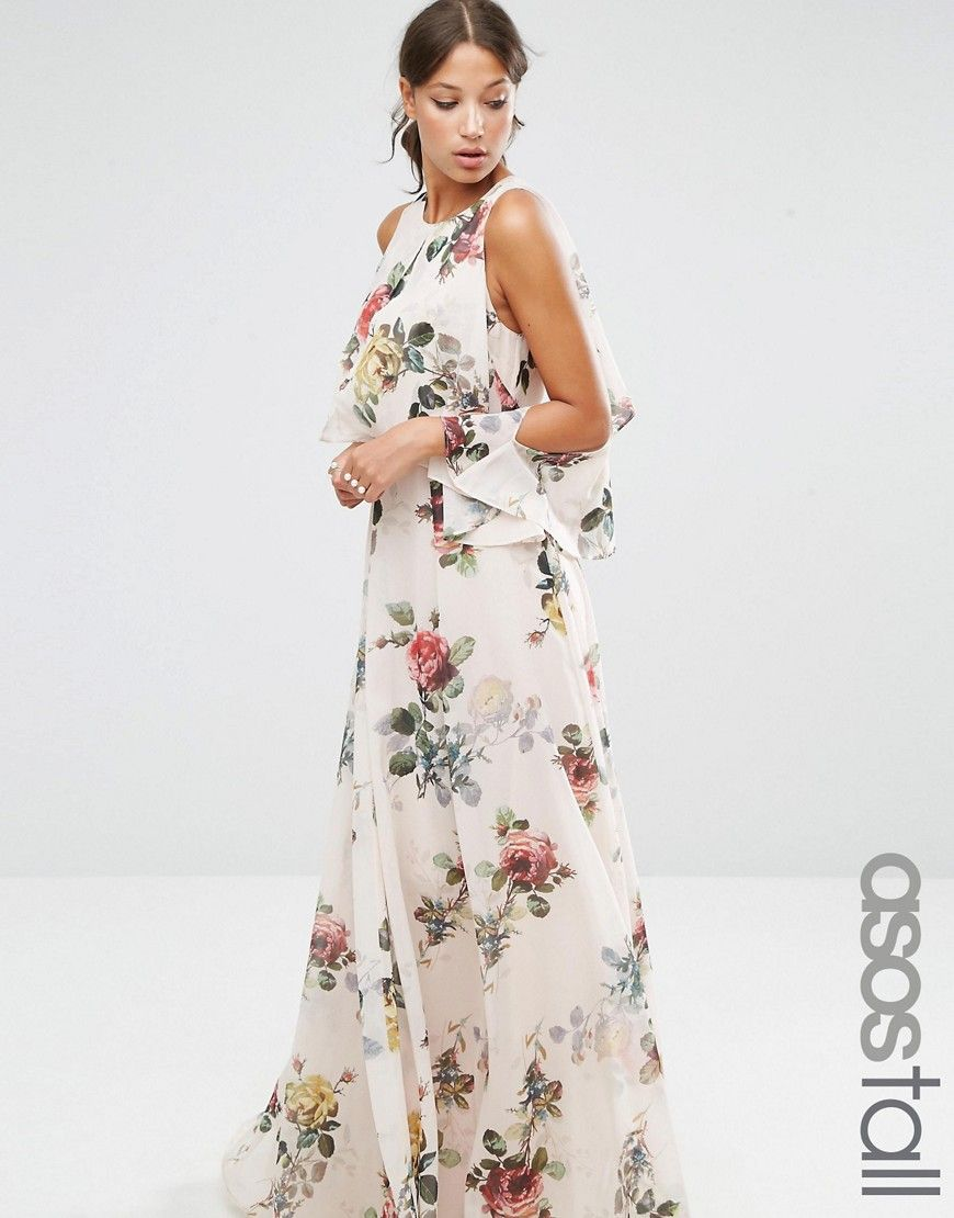 df8e3e40c0cf8 ASOS Extreme Cold Shoulder Floral Maxi Dress | Amazing Dresses ...