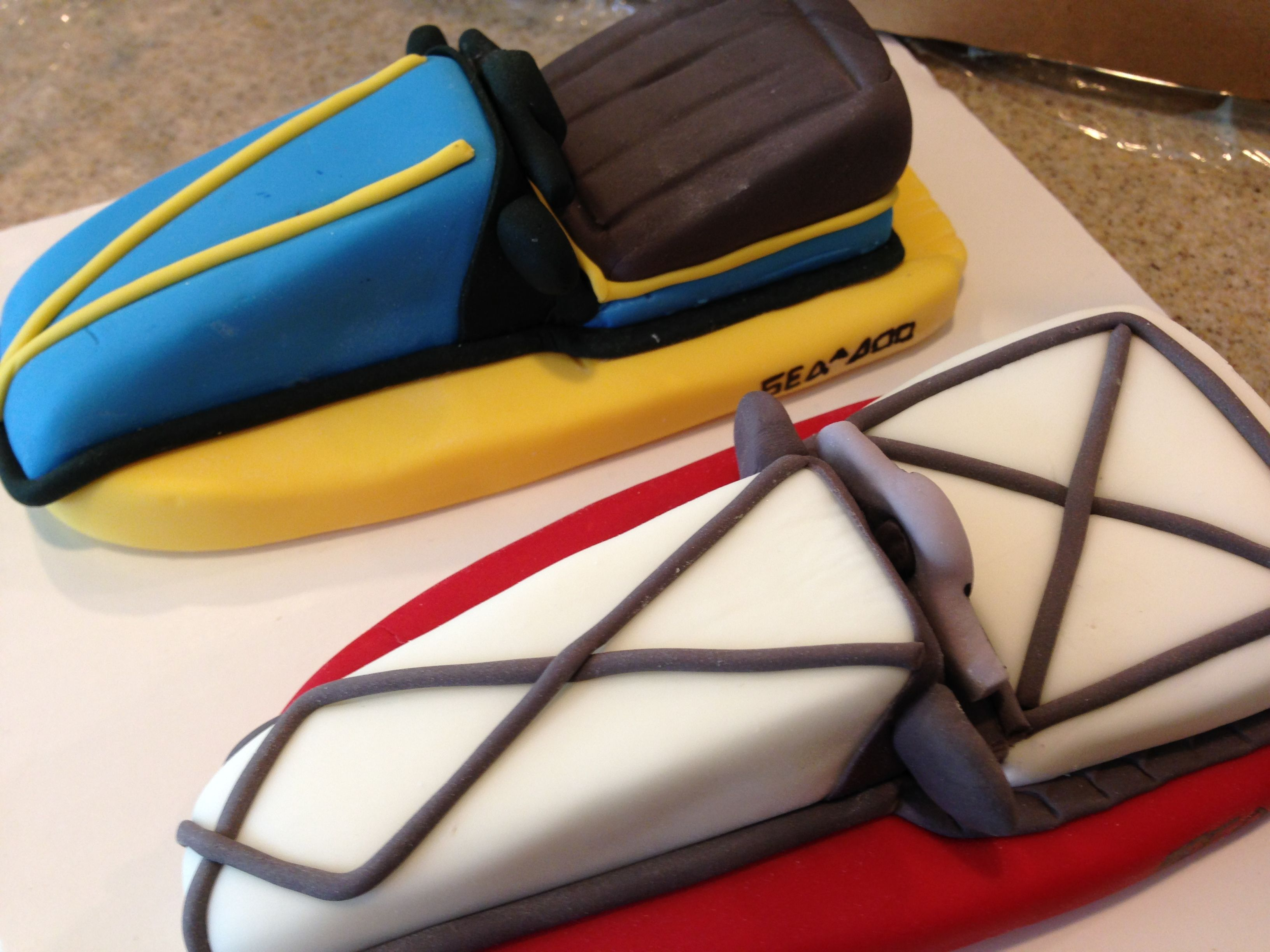 Fondant Jet Ski Sea Doo Cake Toppers Jet Ski Rich Cake Novelty Cakes