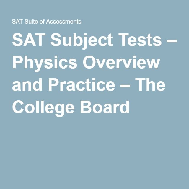 college board sat physics practice test