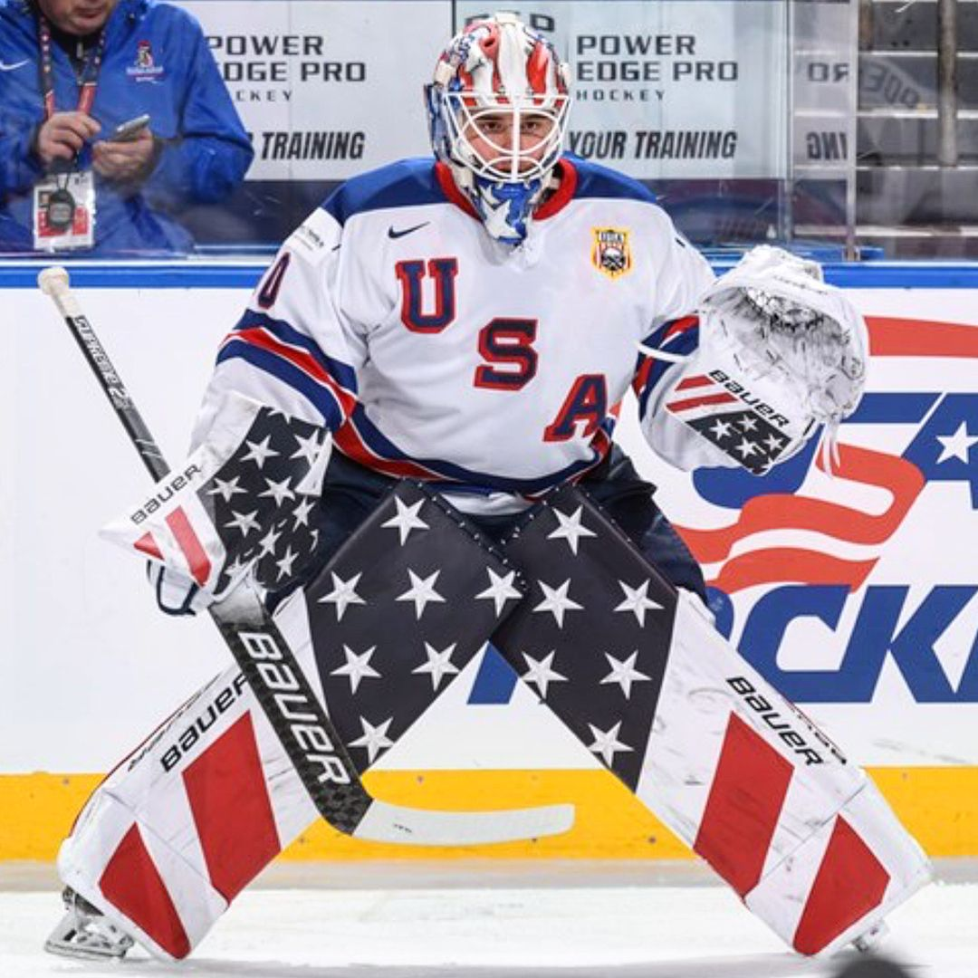 4 847 Likes 19 Comments Goaligram Goaligram On Instagram Jake Oettinger 98 Usa Wjc Boston U Hockey Training Ice Hockey Teams Hockey