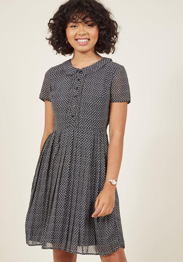 Adorewe modcloth modcloth shortsleeved pleated shirt dress in xxs
