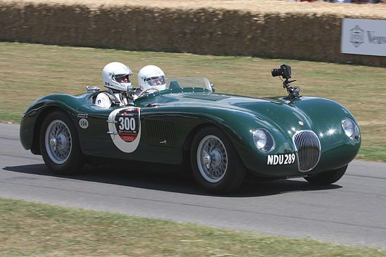 1953JaguarC-Type Duncan Hamilton and Tony Rolt won the race at 105.85mph (170.35km/h) – the first time Le Mans had been won at an average of over 100 miles per hour (161km/h). 1954, the C-Type's final year at Le Mans, saw a fourth place by theEcurie Francorchampsentry driven byRoger LaurentandJacques Swaters.