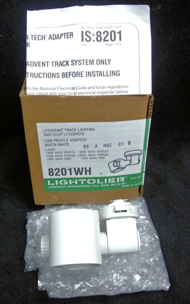 lightolier lytespan 8201wh track lighting head par tech low profile