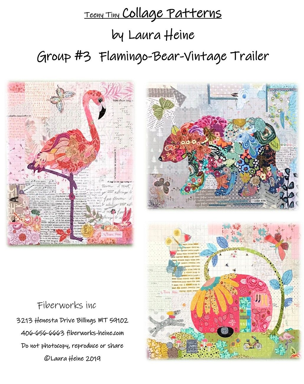 Teeny Tiny Collage Group 3 Sewing Pattern by Laura Heine