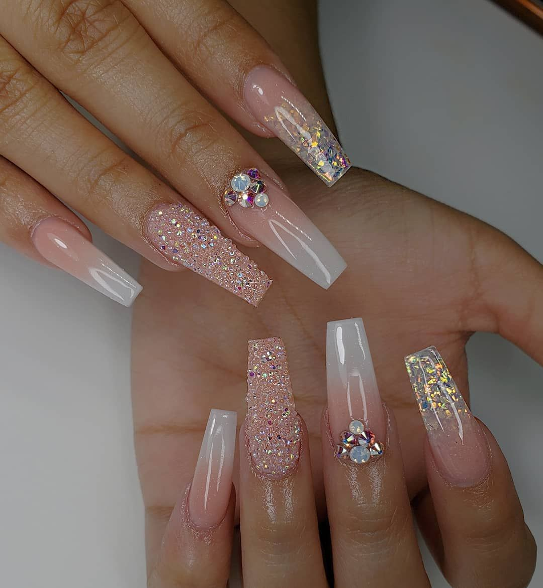 20 Latest Trendy Pink Color Coffin Nails Styles In Autumn And Winter In 2020 Long Acrylic Nails
