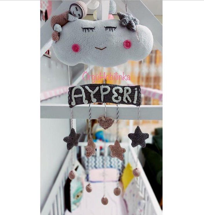 #odadekorasyonfikirleri #bebek #amigurumi #amigurumidoll #amigurumipattern #dekor #dekorasyon #bebekodası #bulut #hediye #oyuncak