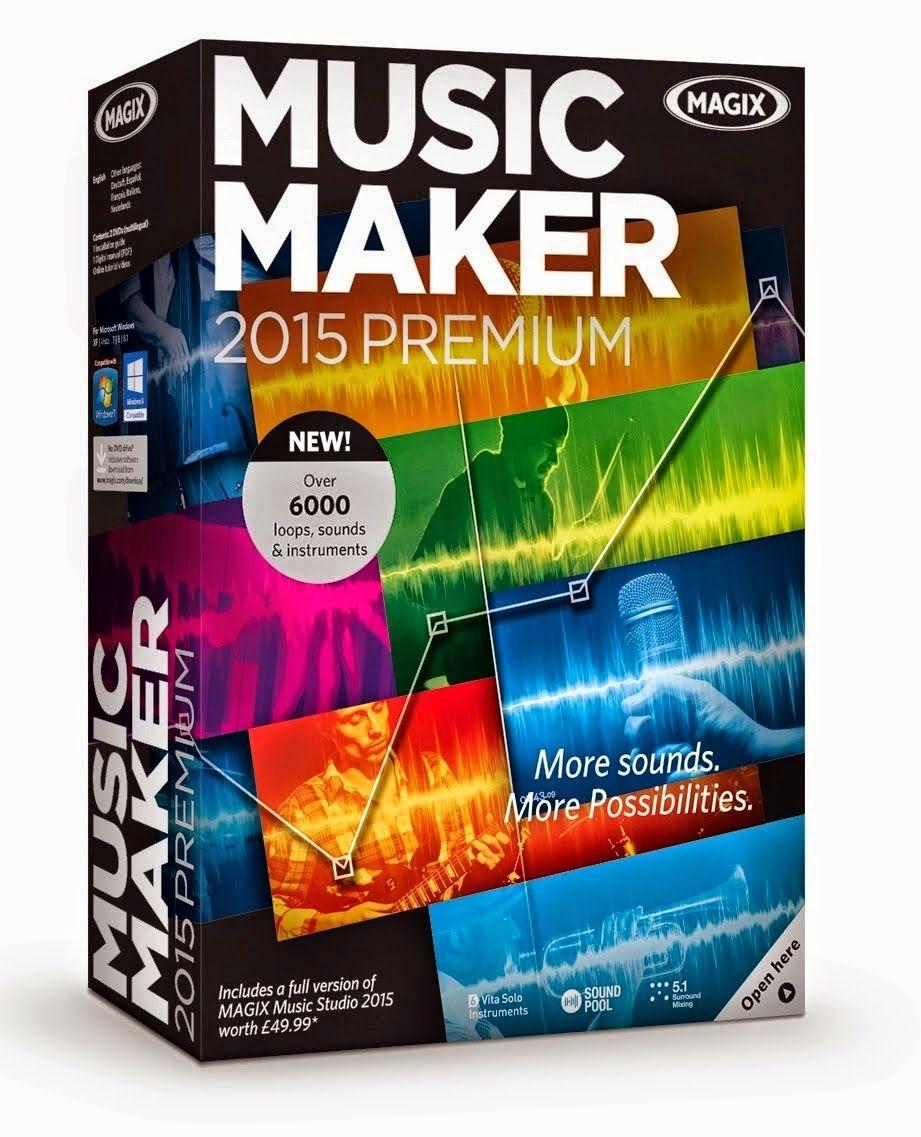 magix music maker premium 2015 21.0.0.30 full version (con