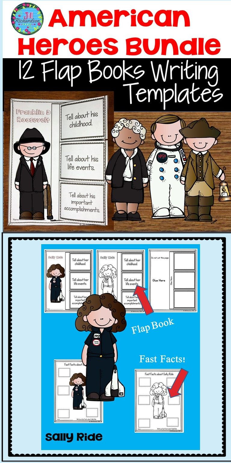 American Heroes Flap Books And Fast Fact Printables Bundle Of 12 Heroes This Is An Easy And Fun Way For Your Students To W Flap Book Writing Bundle Fast Facts [ 1536 x 768 Pixel ]