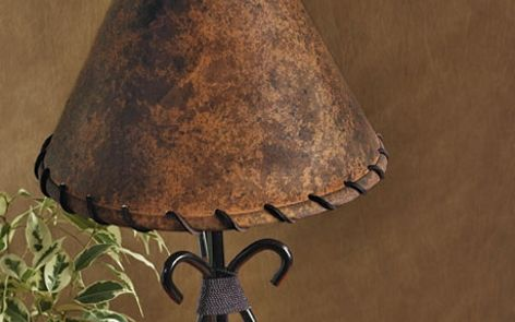 Traditional Leather Lamp Shade Transform Any Standard Lamp Shade Or Other  Tabletop Item Into A Rustic