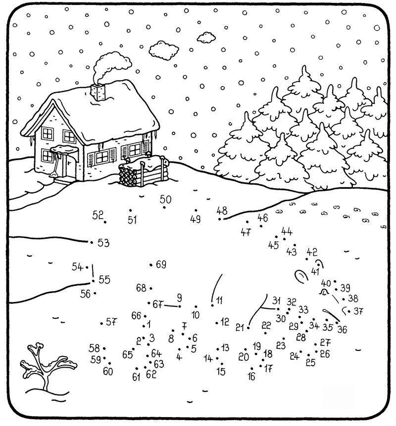 Wer stapft da durch den Schnee? Wenn Ihr Kind die Zahlen von 1 bis ...