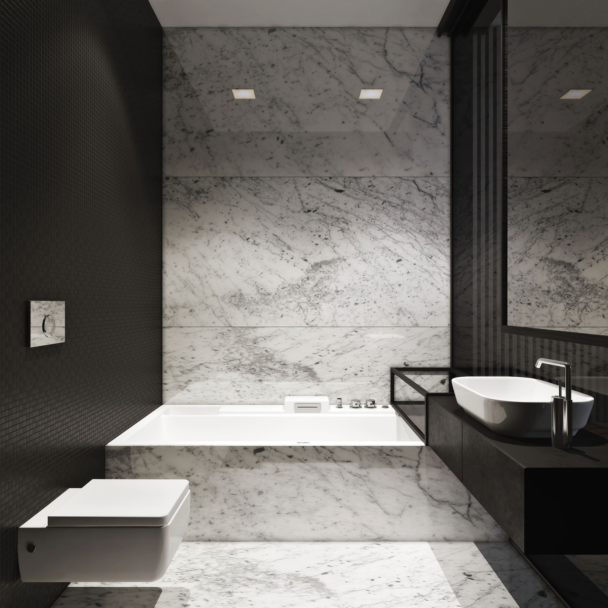 m townhouse by igor sirotov architect bathroom marble