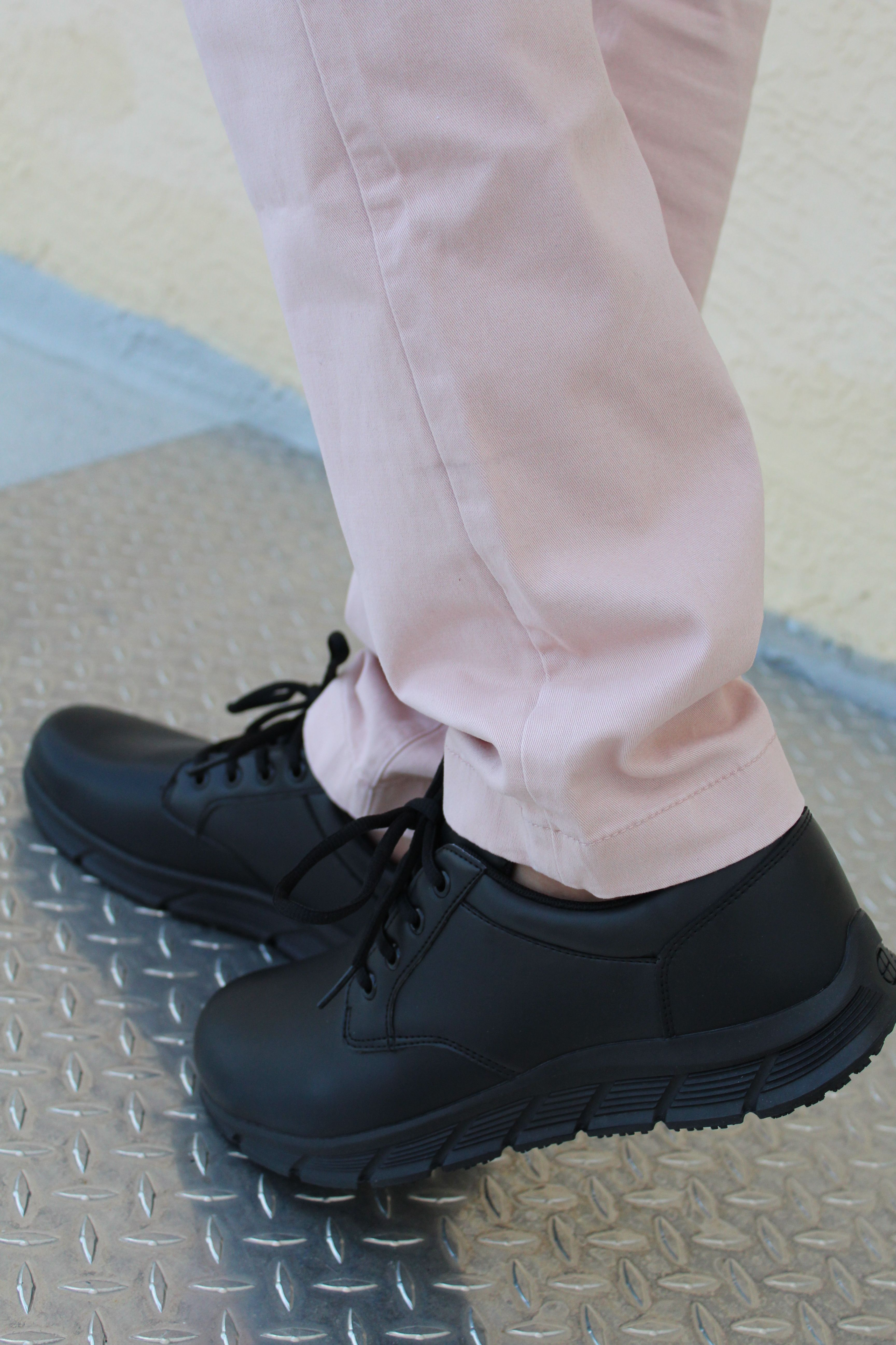 black casual work shoes