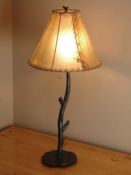 Forged Iron Table Lamp Western Lamps Hand Forged Iron Table Lamp