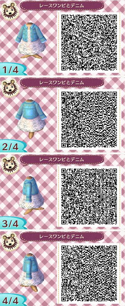 10ba6ffdb9c0 ACNL Jeanskleid Qr Code Animal Crossing, Animal Crossing Qr Codes Clothes,  Motif Acnl,