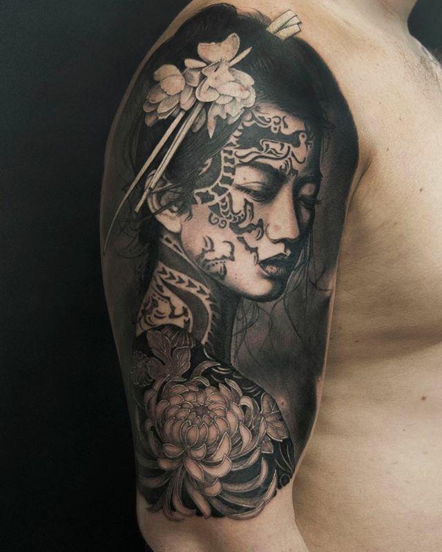 Maksim Melnik Japanese Tattoo Geisha Tattoo Sleeve Tattoos