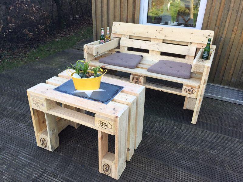Gartensofa 2 Sitzer Aus Europaletten Sommer Sonne Gartenzeit