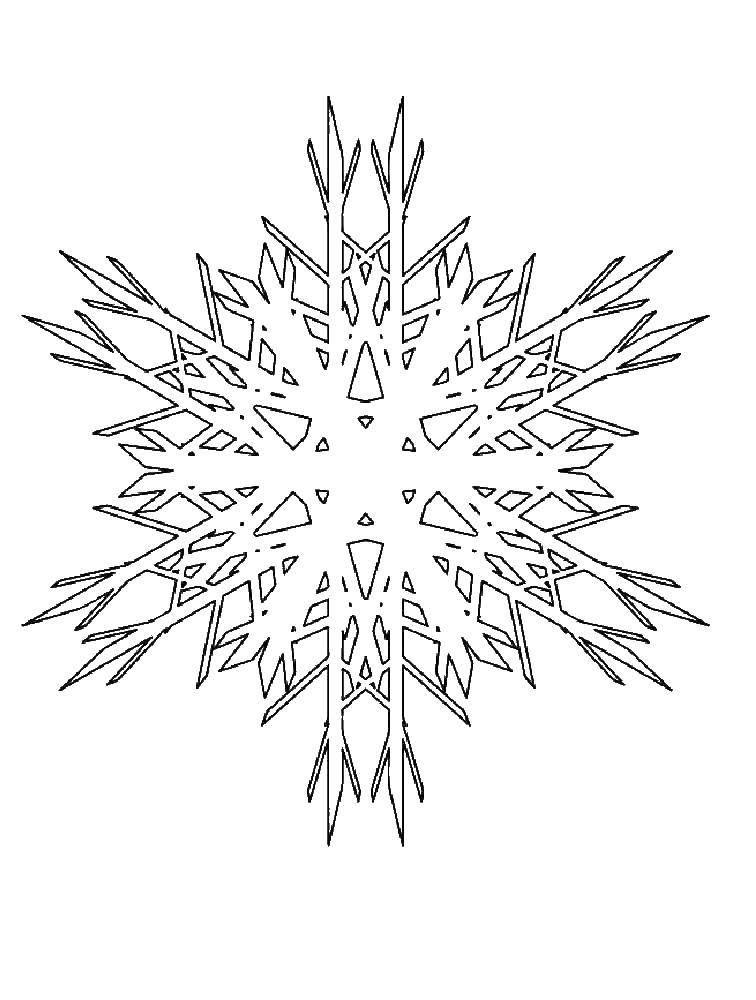 Раскраска Снежинки ,снежинка, ,снег, | Раскраски, Снежинки ...