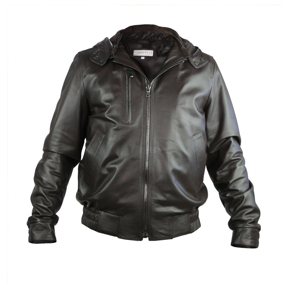 Leather jacket italy - Classic Leather Jacket In Brown With Customized Sizing Direct From Florence Italy